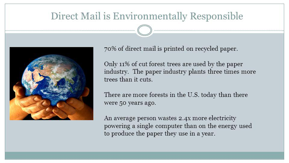 Direct Mail is Not Dead US Businesses spent $45.2 billion dollars on Direct Mail in 2010 and generated $702 billion in increased sales.
