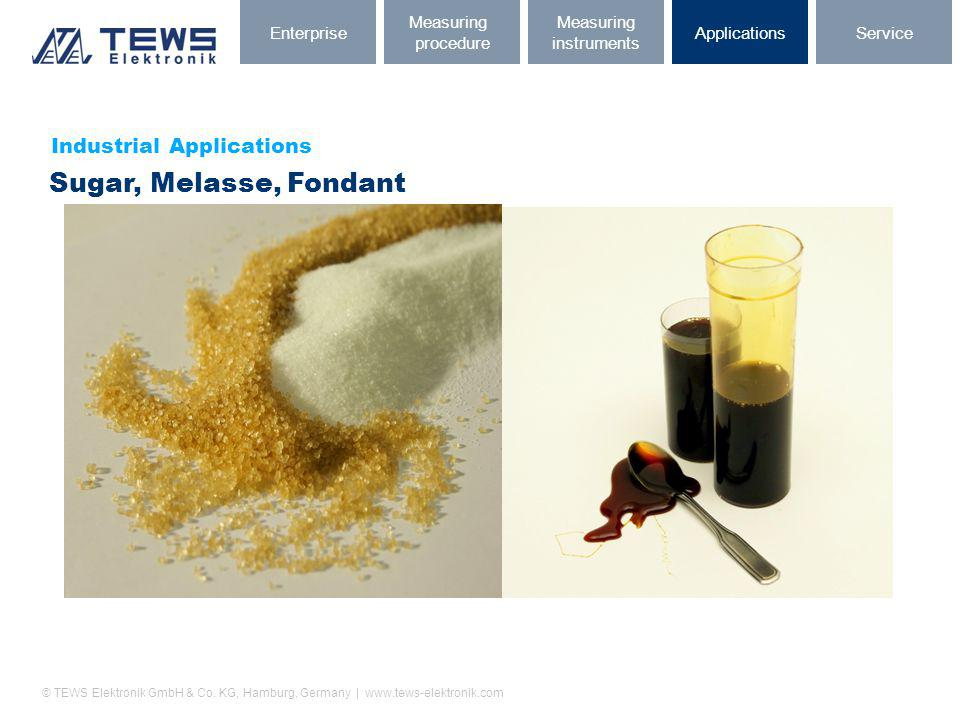 © TEWS Elektronik GmbH & Co. KG, Hamburg, Germany | www.tews-elektronik.com Industrial Applications Sugar, Melasse, Fondant ServiceApplications Measur