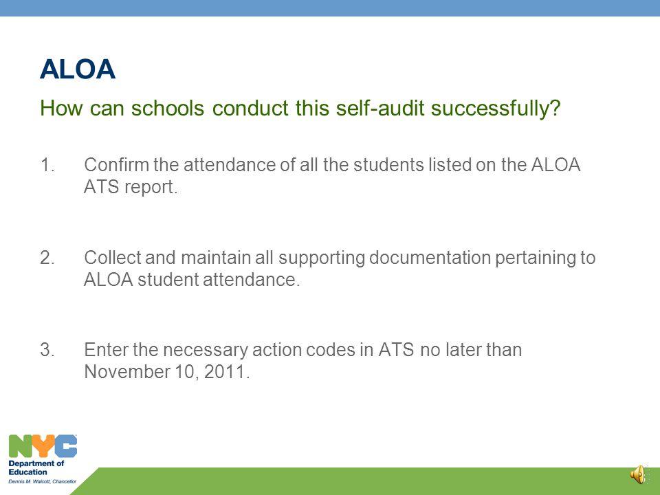 ALOA Self-Audit 4