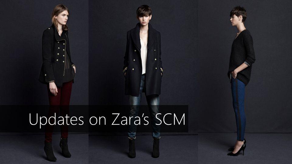 Updates on Zaras SCM