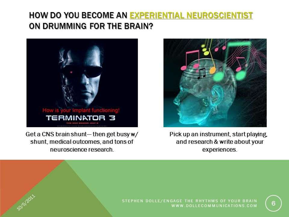Get a CNS brain shunt--- then get busy w/ shunt, medical outcomes, and tons of neuroscience research. Pick up an instrument, start playing, and resear