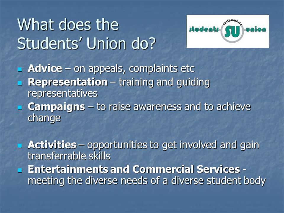 What does the Students Union do.