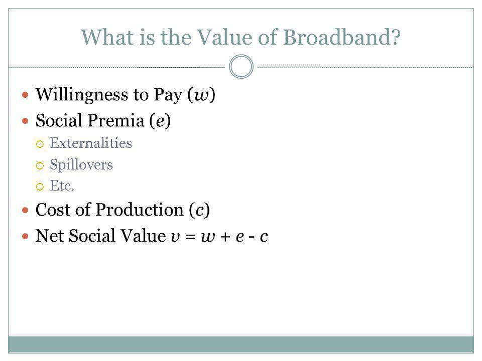 What is the Value of Broadband.
