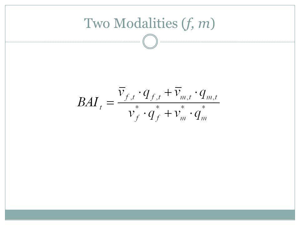 Two Modalities (f, m)