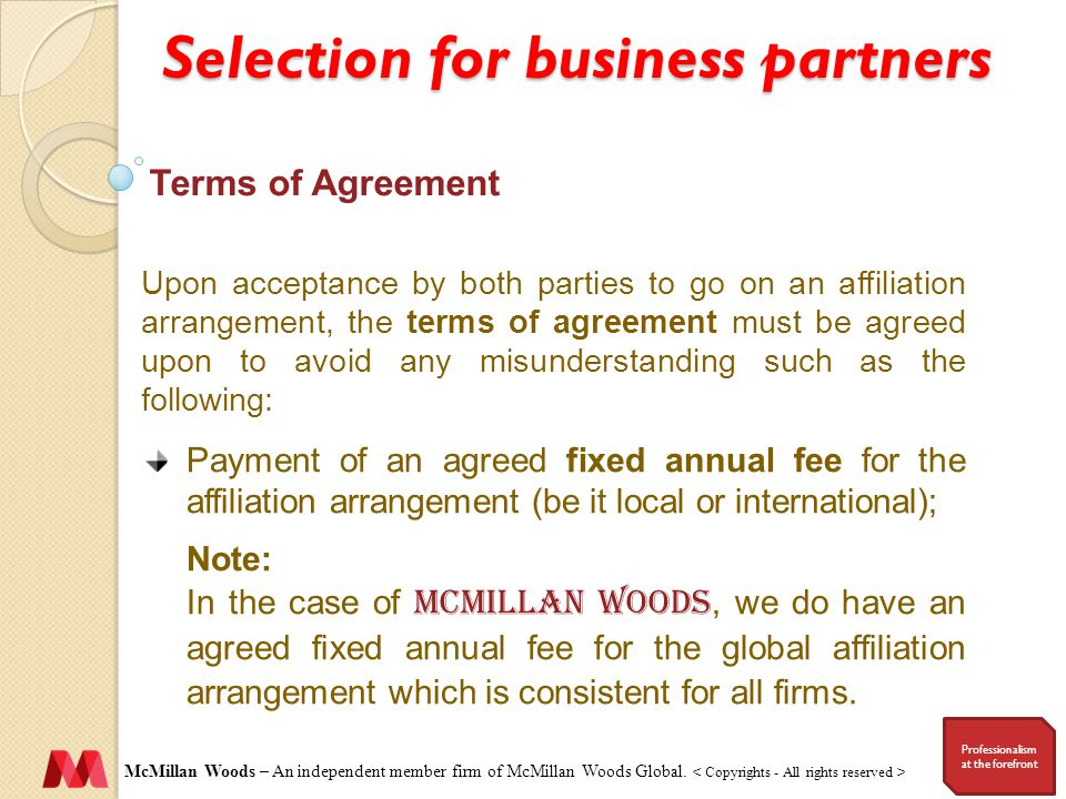 McMillan Woods – An independent member firm of McMillan Woods Global.