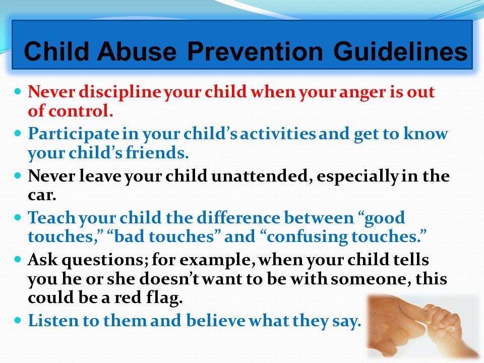 Important Things Parents Should Know When Talking to Your Child about Child Safety Issues. Dont forget your older children. Children 11-17 are equally
