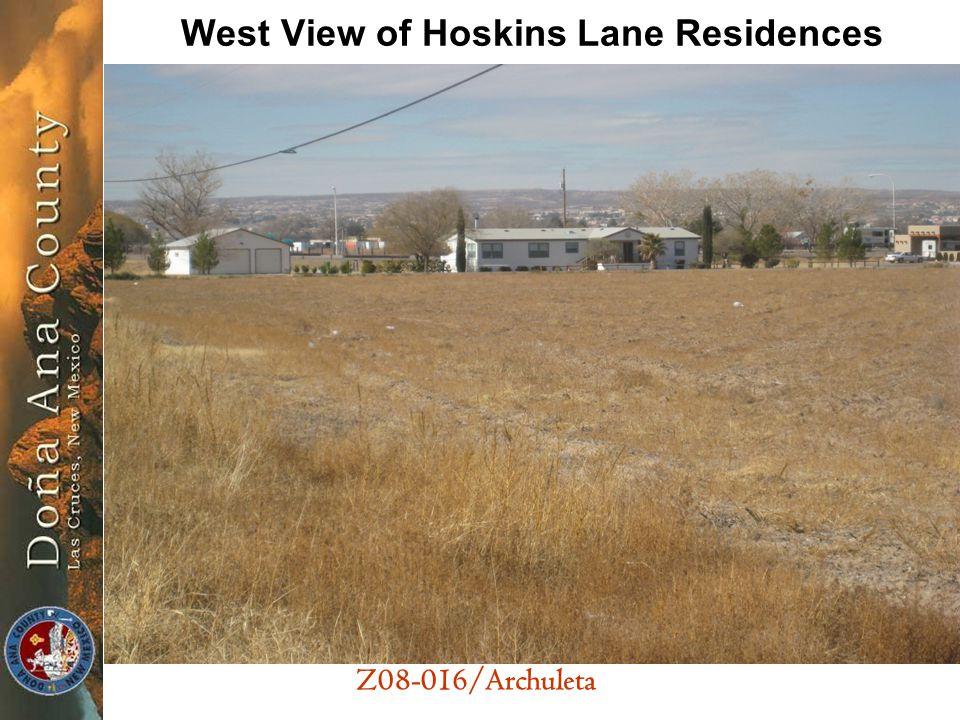 Z08-016/Archuleta West View of Hoskins Lane Residences