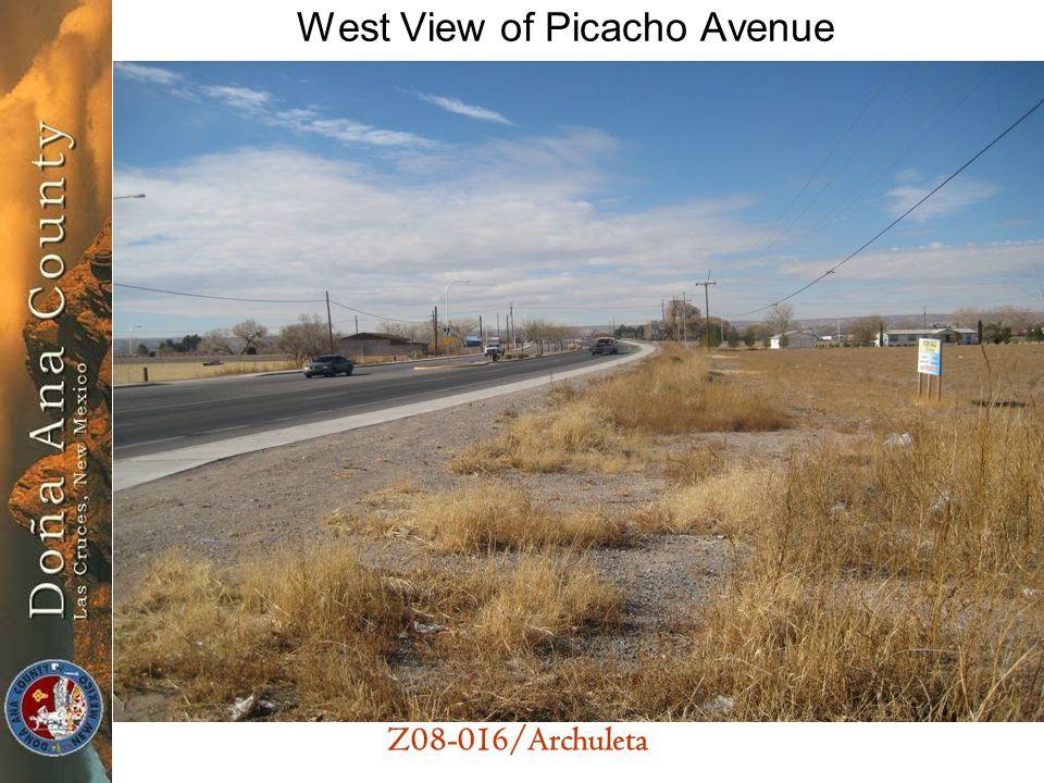 Z08-016/Archuleta West View of Picacho Avenue