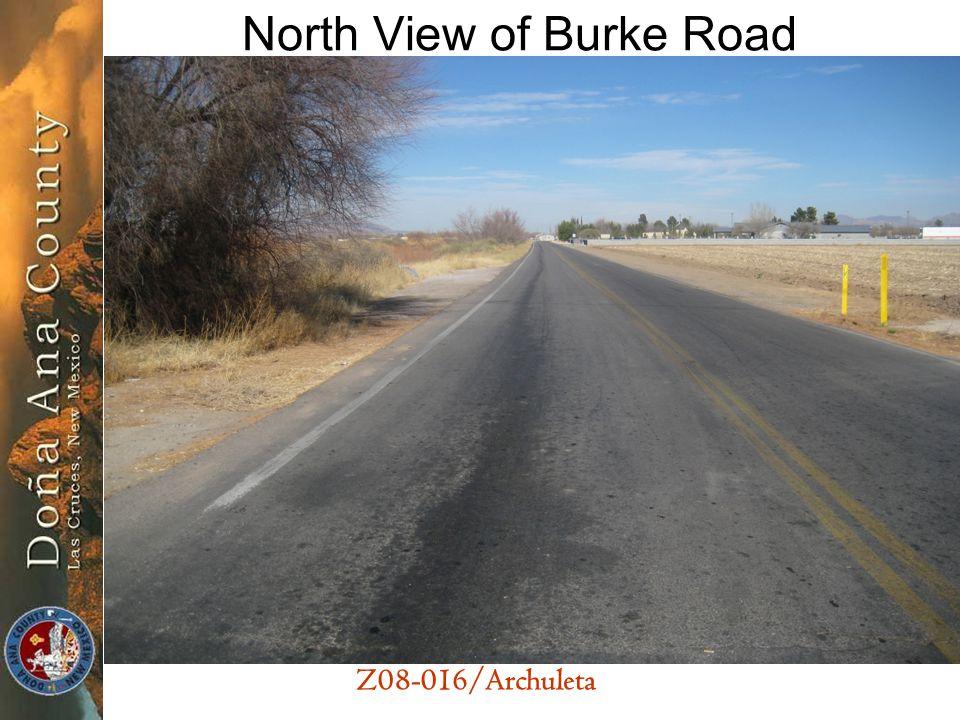 Z08-016/Archuleta North View of Burke Road