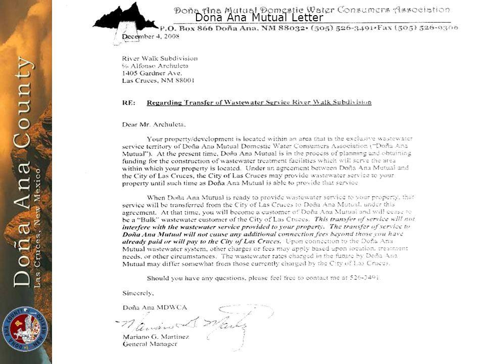 Z08-016/Archuleta Dona Ana Mutual Letter