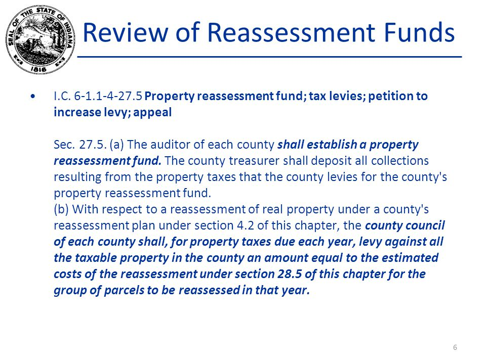 Review of Reassessment Funds I.C.