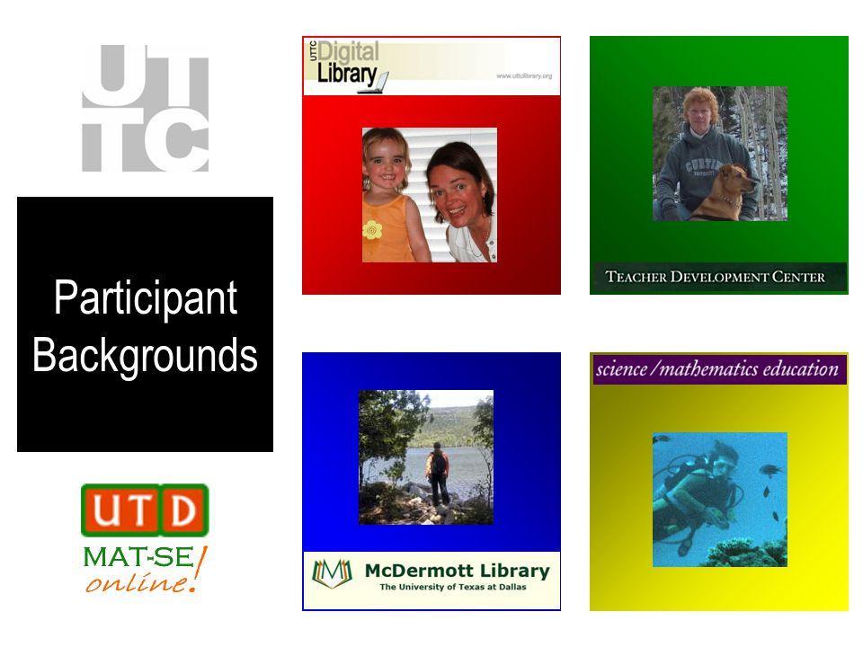 Participant Backgrounds