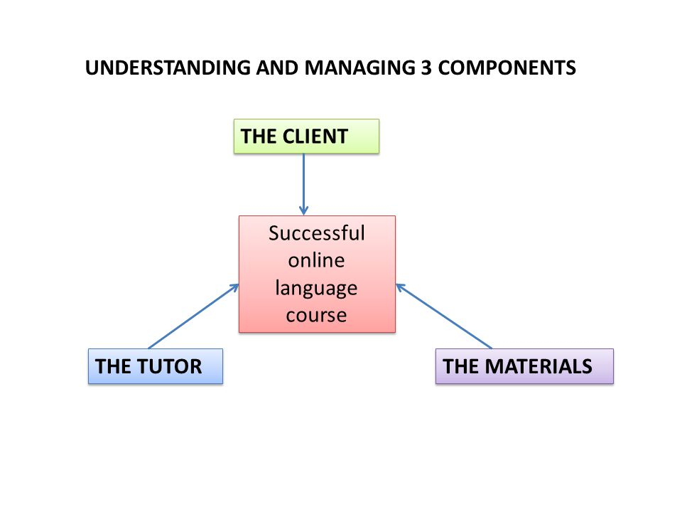 1.1.THE CLIENT – Individual learning style Linear, systematic.