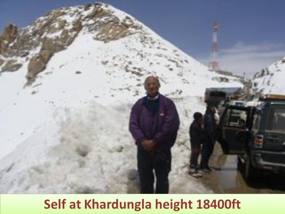 Self at Khardungla height 18400ft