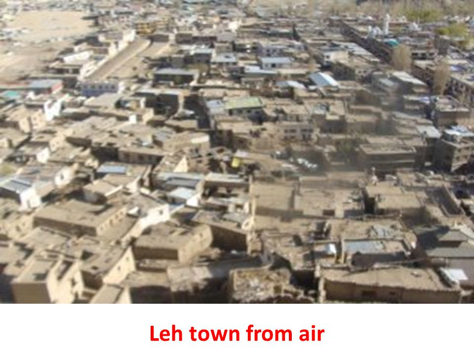 Leh town from air