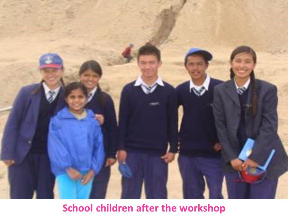 School children after the workshop