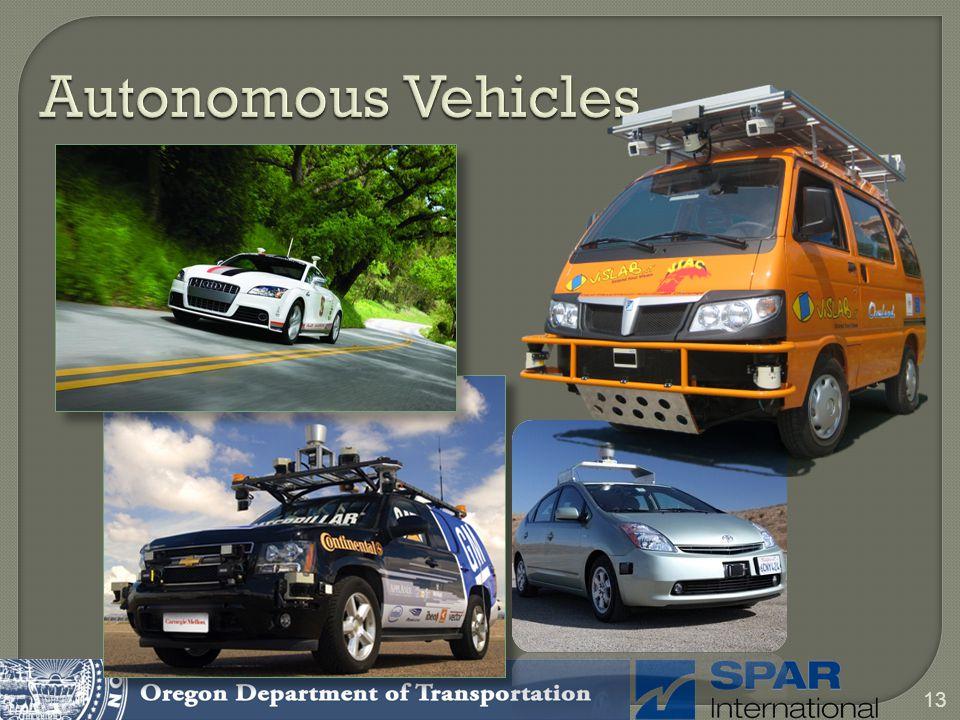 13 Autonomous Vehicles
