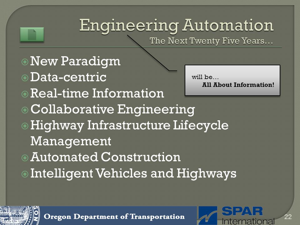 New Paradigm Data-centric Real-time Information Collaborative Engineering Highway Infrastructure Lifecycle Management Automated Construction Intellige