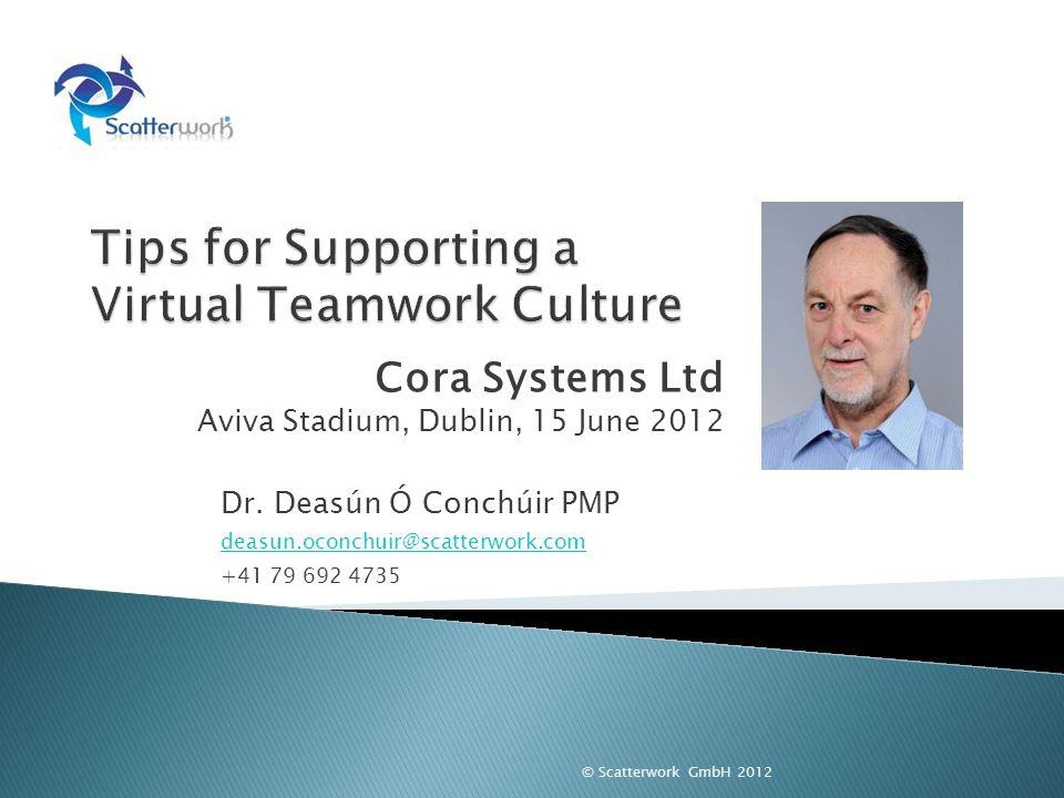 Cora Systems Ltd Aviva Stadium, Dublin, 15 June 2012 Dr.