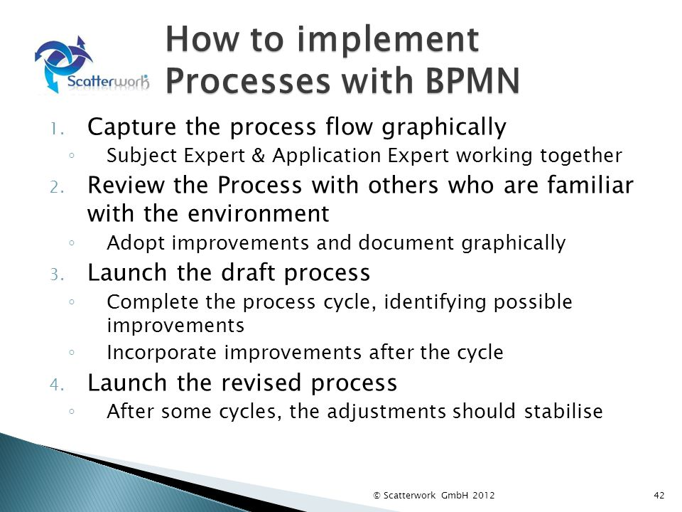 How to implement Processes with BPMN 1.
