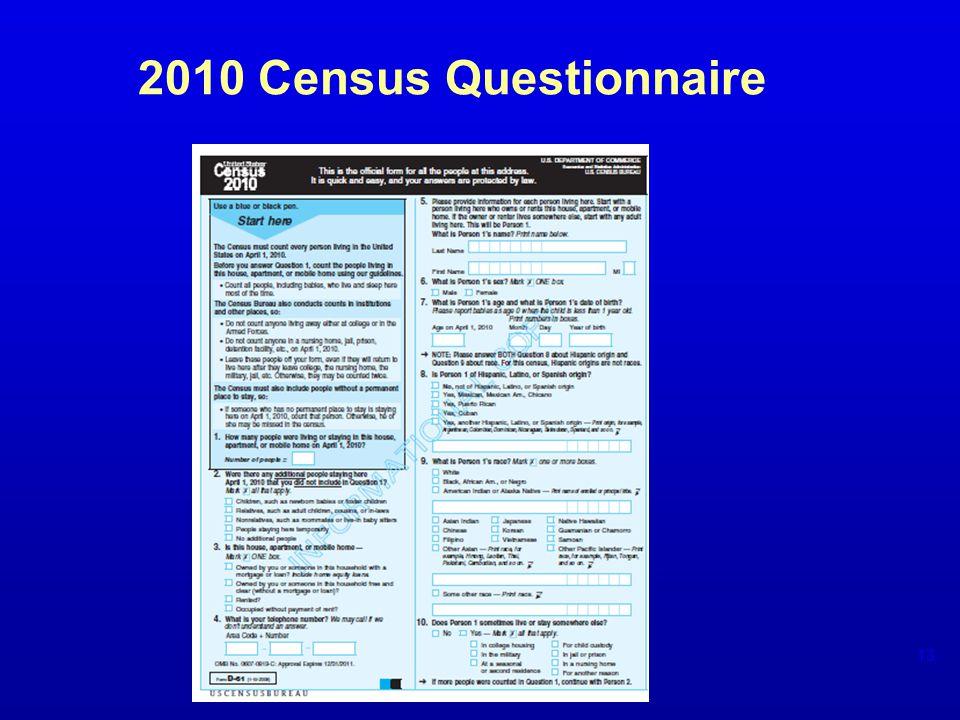 2010 Census Questionnaire 13