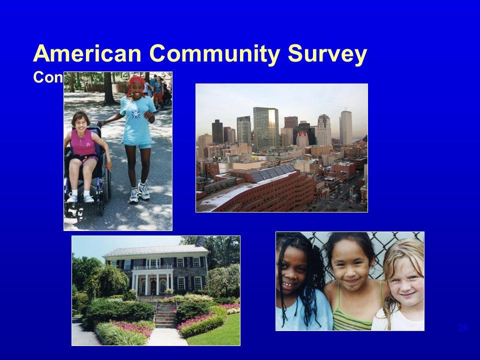 American Community Survey Content 25