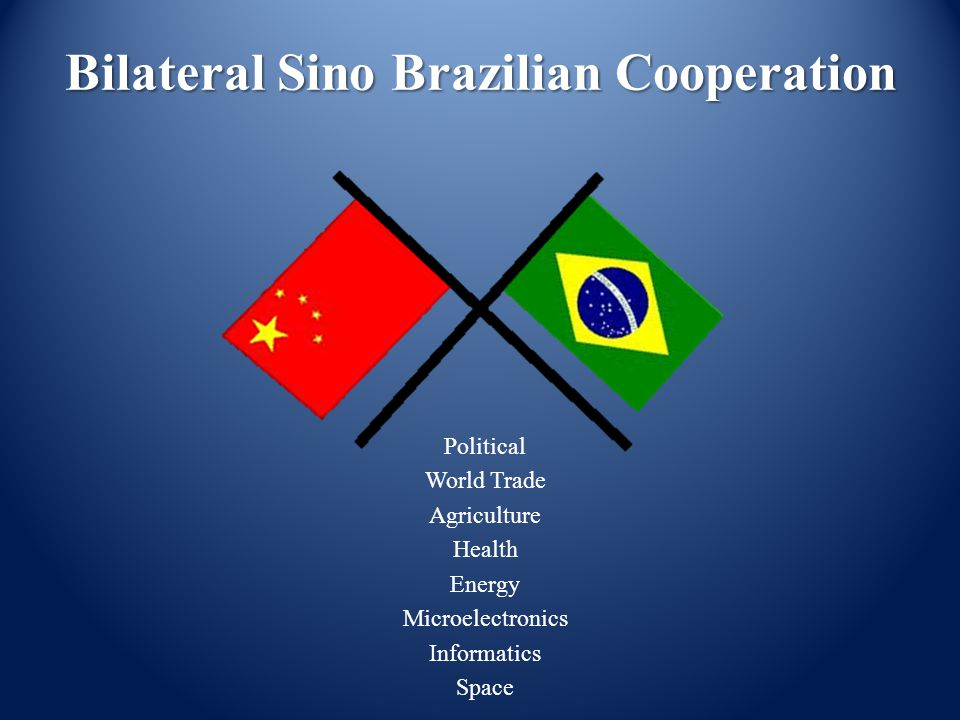 Bilateral Sino Brazilian Cooperation Political World Trade Agriculture Health Energy Microelectronics Informatics Space
