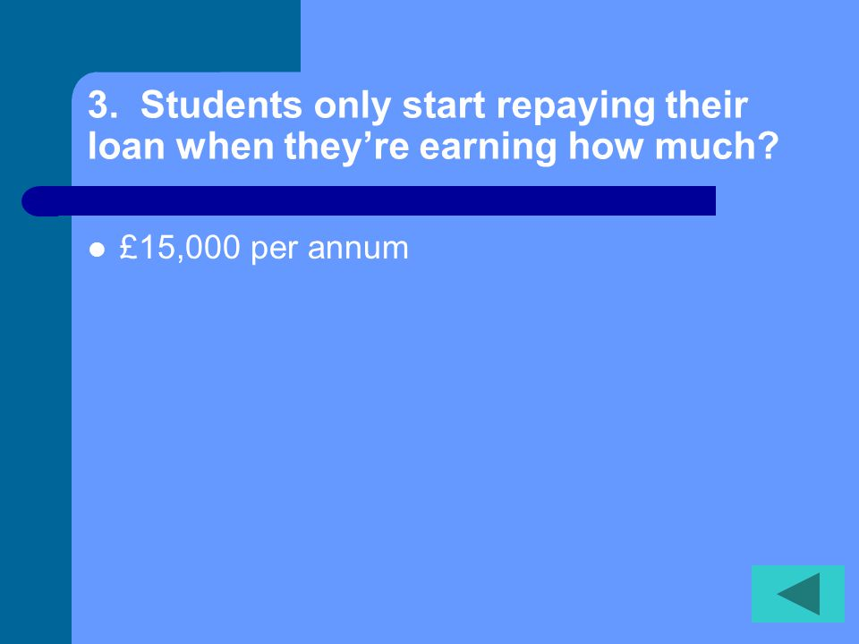 3. Students only start repaying their loan when theyre earning how much