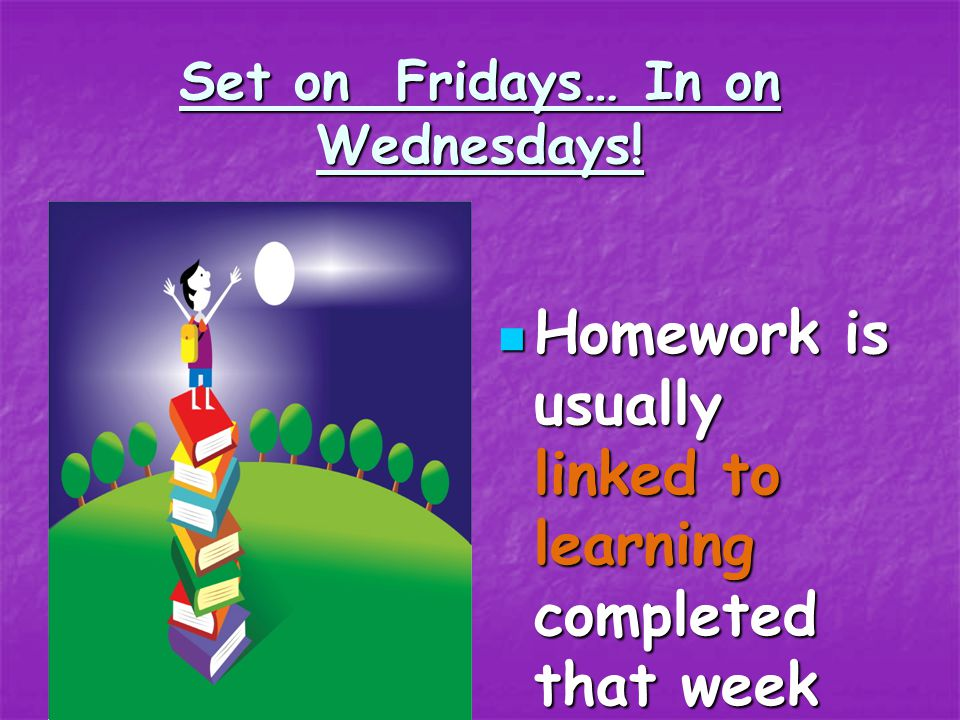 Homework arrangements and other practical things: Children are given a Children are given a Learning Log to complete Learning Log to complete their ho