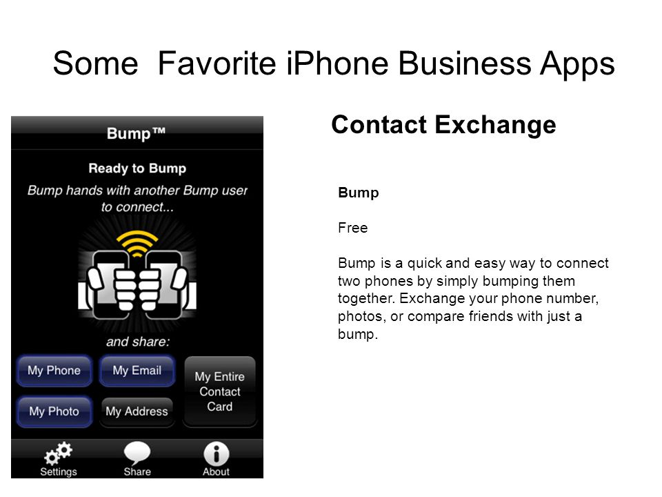 Bump Free Bump is a quick and easy way to connect two phones by simply bumping them together.
