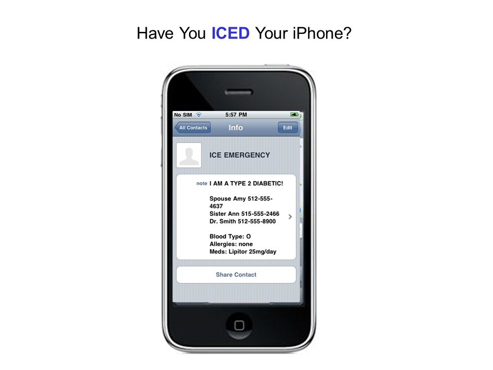 Have You ICED Your iPhone