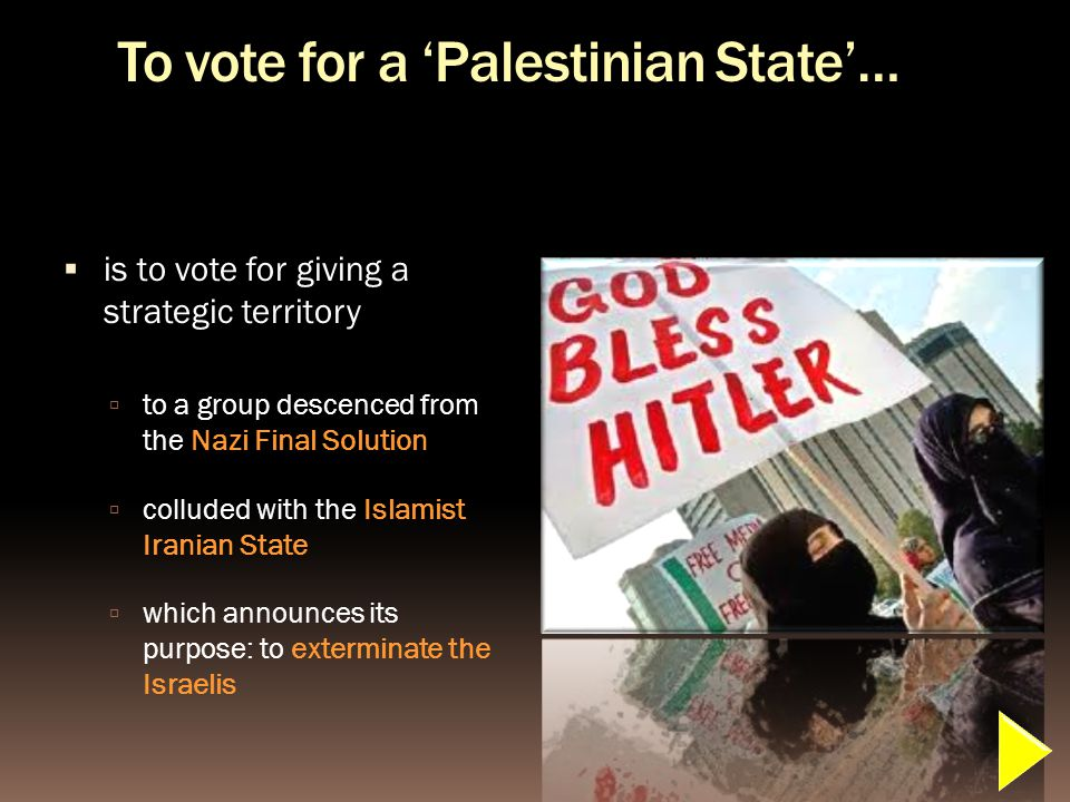 What is the meaning of a UN vote in favor of recognizing a Palestinian state.