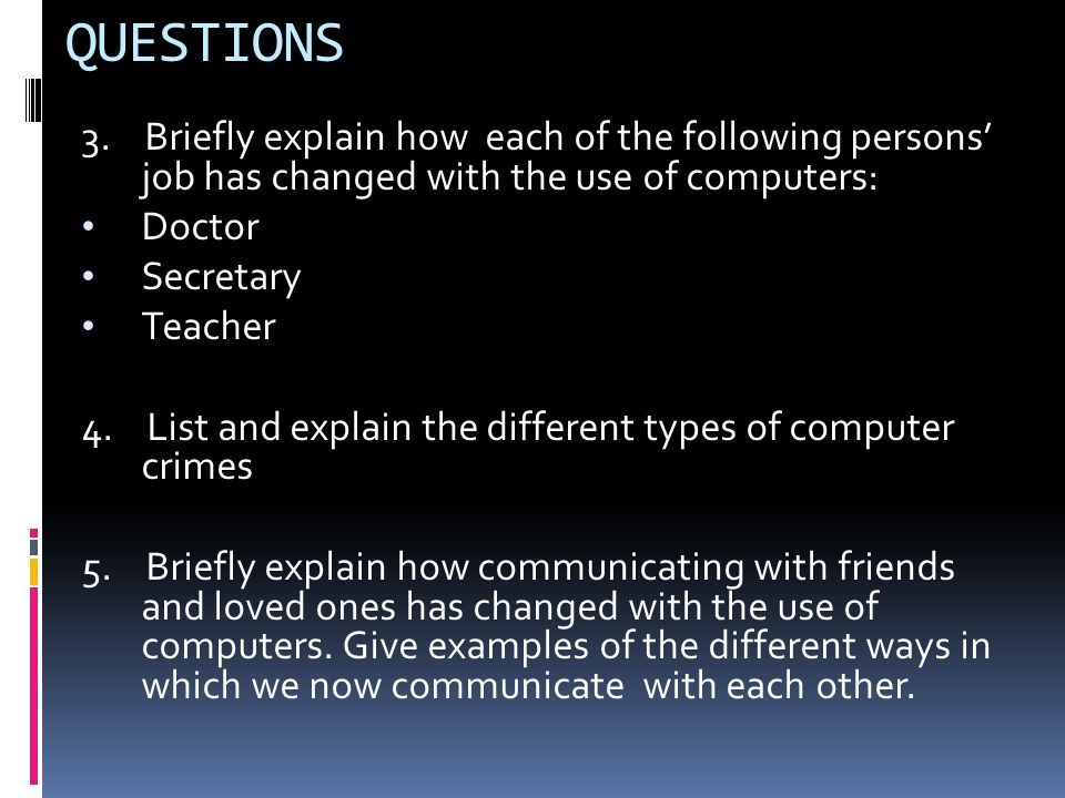 QUESTIONS 3.
