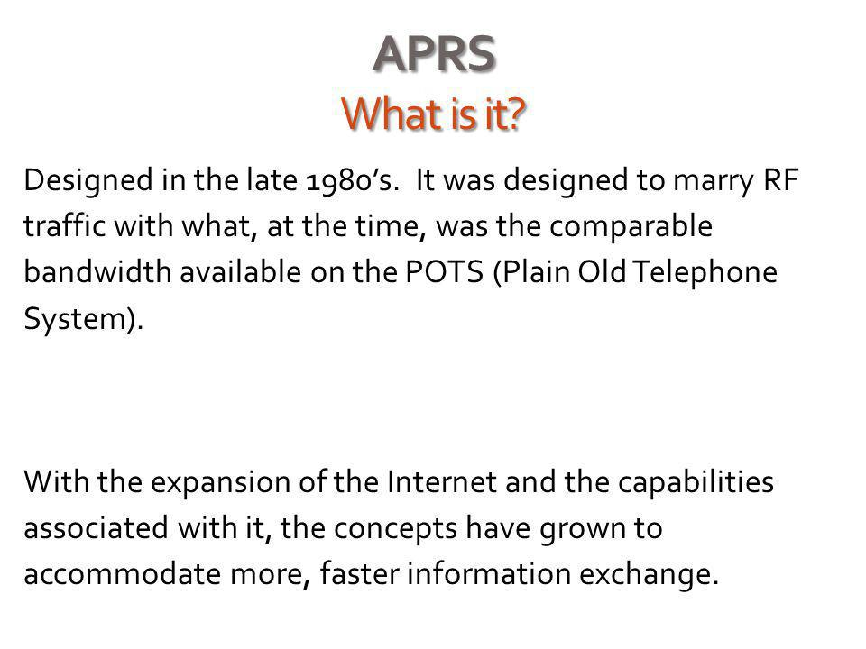 APRS What is it.