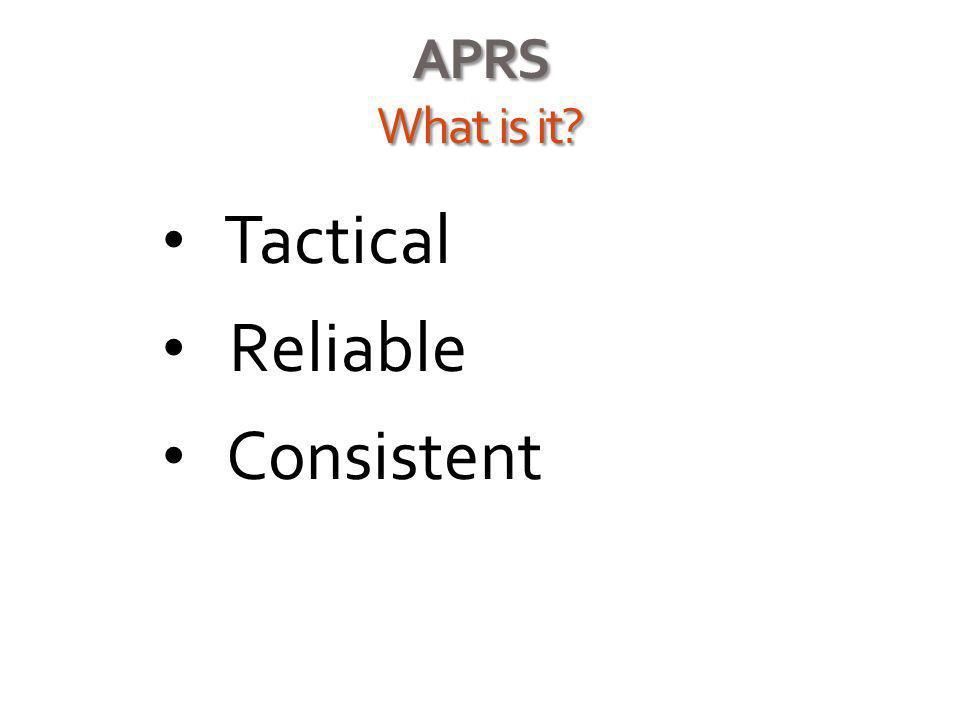 APRS What is it? Tactical Reliable Consistent For more info, contact Spencer Hamons via the BARK website at http://al7yk.org or my personal blog at ht