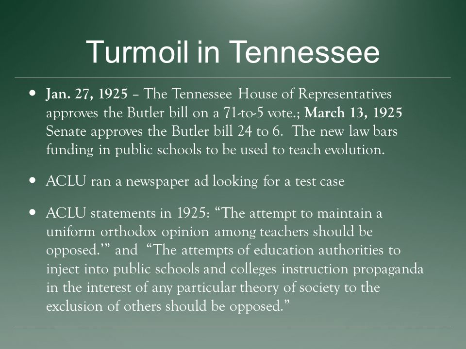 Turmoil in Tennessee Jan.