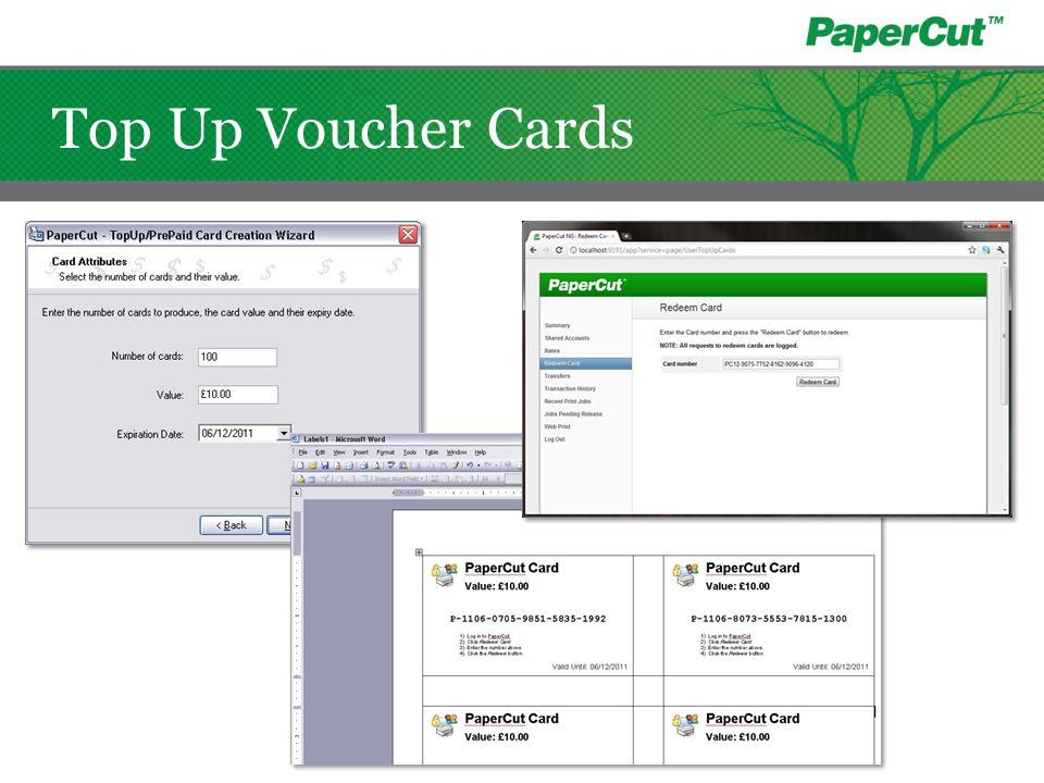 Top Up Voucher Cards