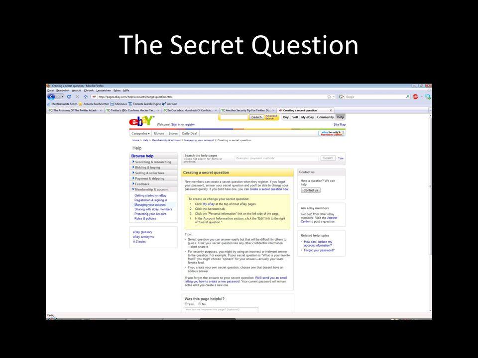 The Secret Question