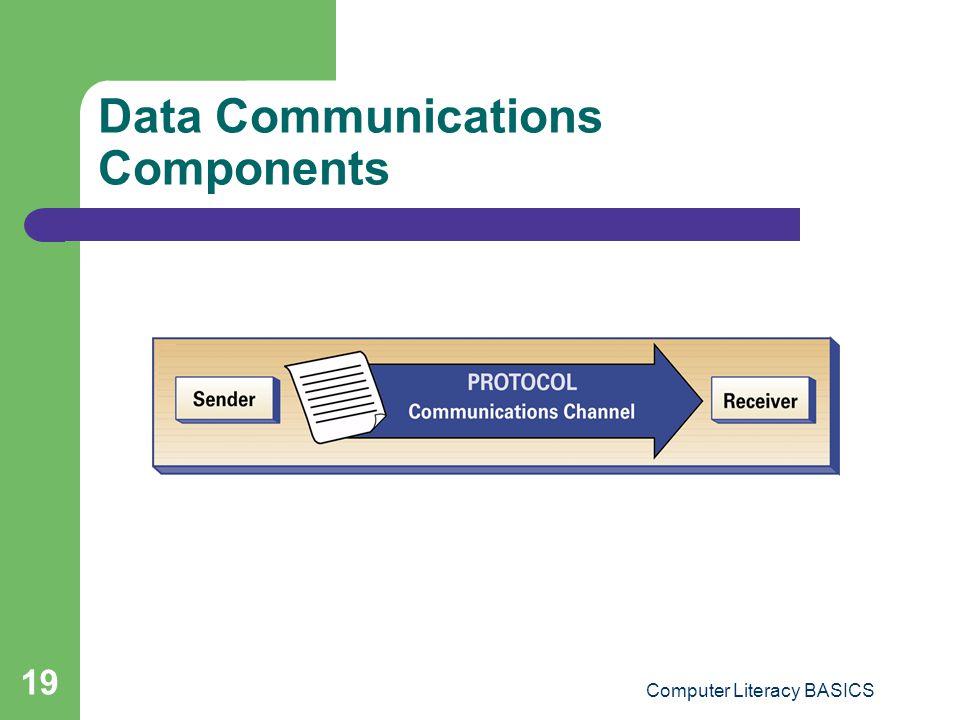 Computer Literacy BASICS 19 Data Communications Components