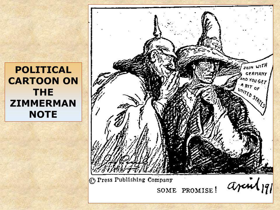 POLITICAL CARTOON ON THE ZIMMERMAN NOTE