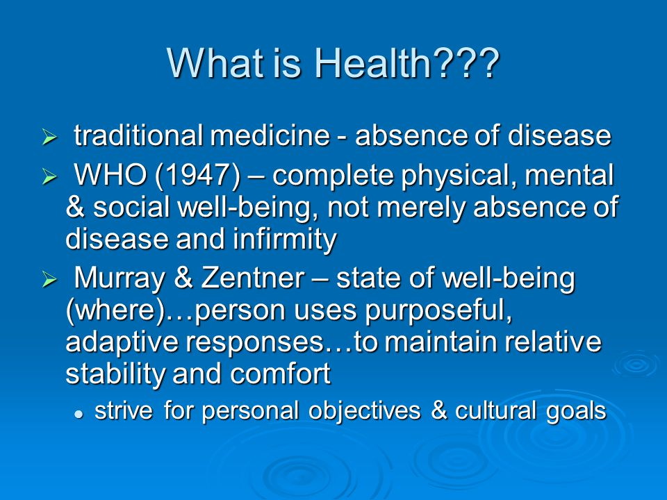 What is Health??.