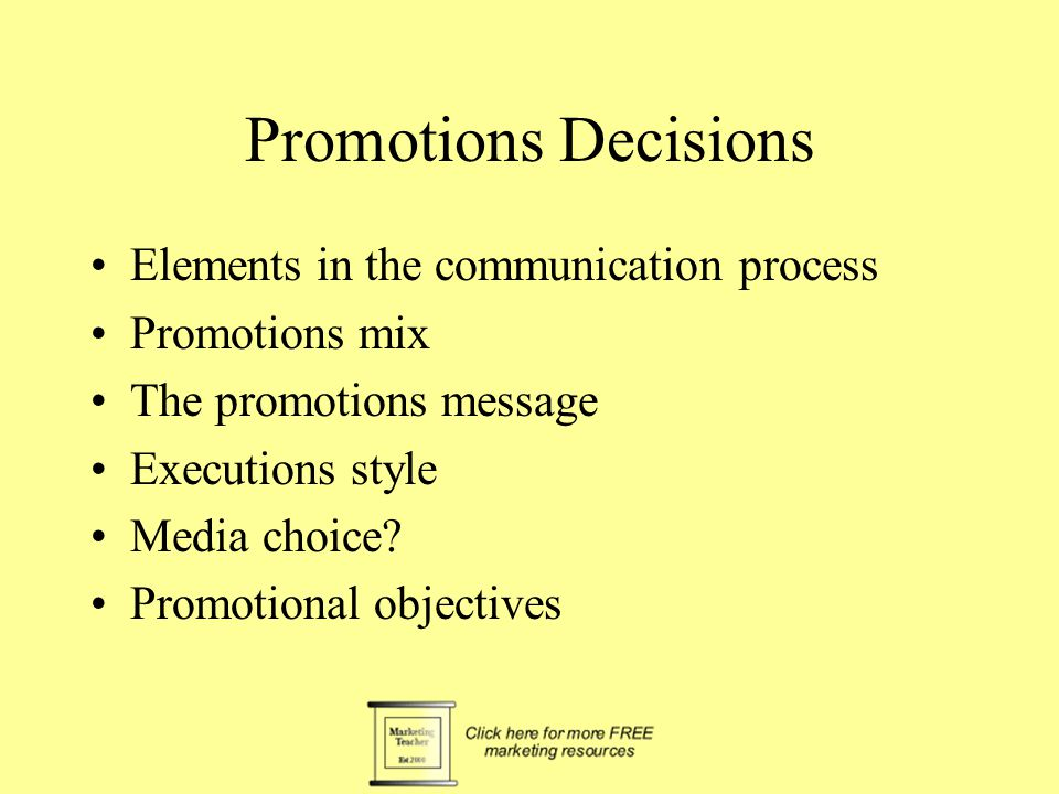 Promotional objectives To support sales increases To encourage trial To create awareness To inform about a feature or benefit To remind To reassure To create an image To modify attitudes