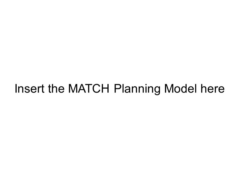 Insert the MATCH Planning Model here