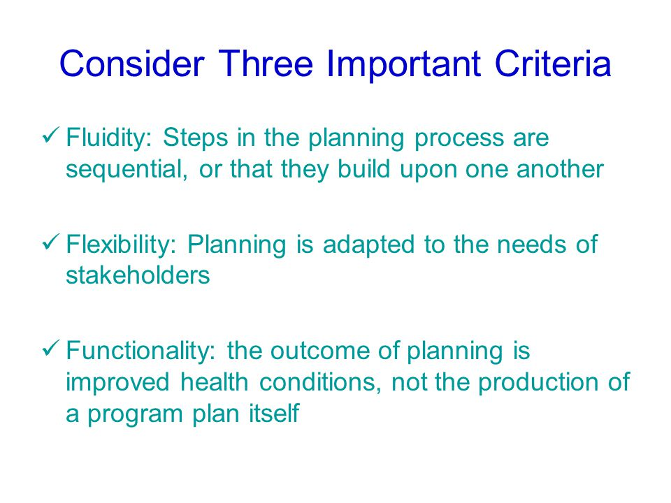 Common Models Used by Planners in Health Promotion Settings PRECEDE-PROCEED (practitioners-driven) MATCH (practitioners-driven) CDCYNERY (consumer-based planning – health communication planning) SMART (consumer-based planning – social marketing planning)