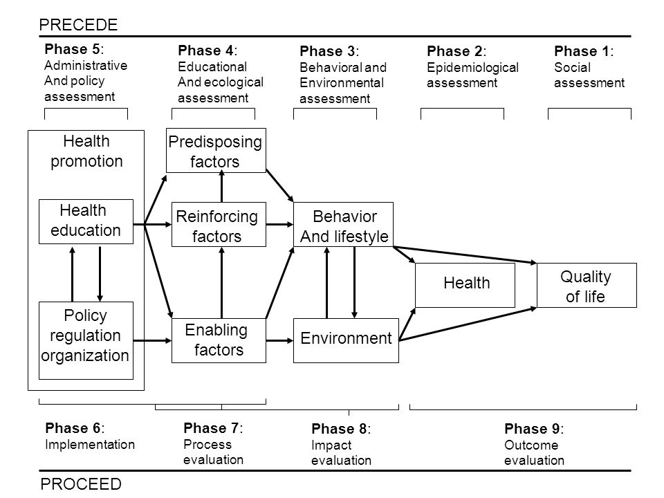 An Application (cont.) e.g., in phase 7 (process evaluation), planners may be concerned with determining the availability of the educational component of the intervention for each student.