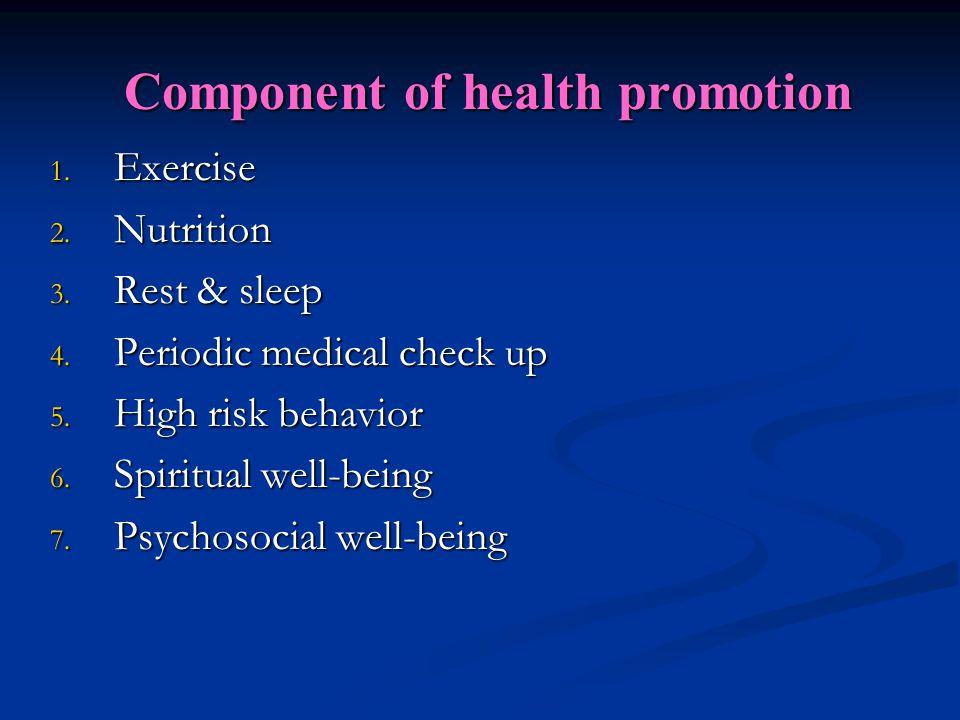 1- Exercise Benefits of exercise exercise Psychological SocialPhysical
