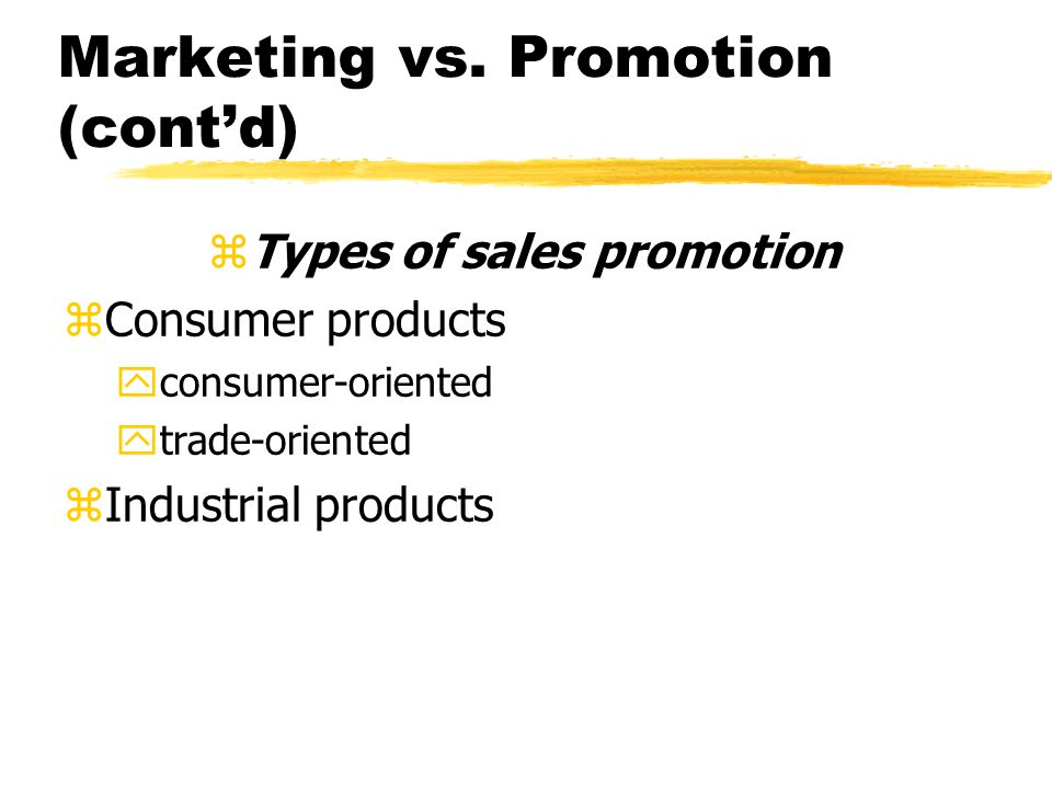 Marketing vs.