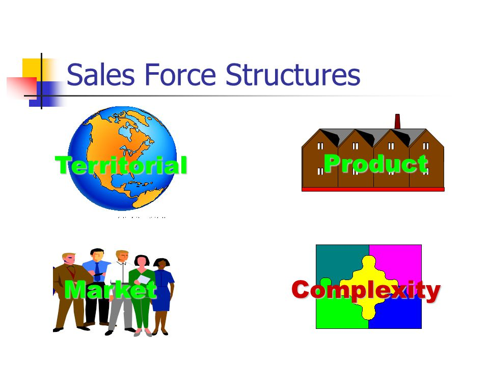 Sales Force Structures Complexity Territorial Product Market