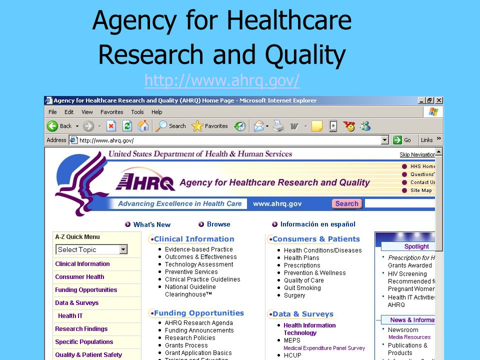 Agency for Healthcare Research and Quality http://www.ahrq.gov/ http://www.ahrq.gov/