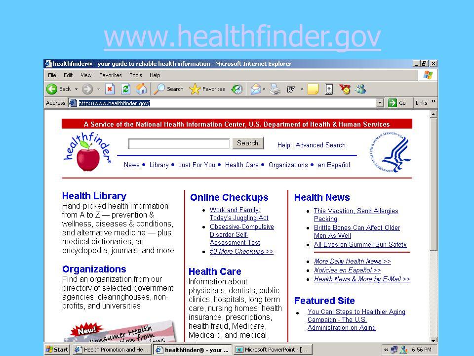 www.healthfinder.gov